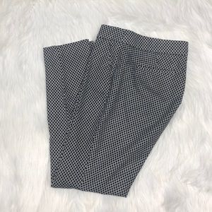 Dalia black white pattern ankle crop pant Size 4